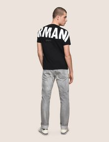 ARMANI EXCHANGE OVERSIZED LOGO YOKE TEE Logo T-shirt Man e