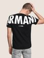 ARMANI EXCHANGE OVERSIZED LOGO YOKE TEE Logo T-shirt Man a