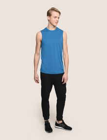 ARMANI EXCHANGE PLACED LOGO MESH TANK S/L Knit Top Man d