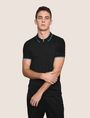 ARMANI EXCHANGE ZIP PLACKET LOGO YOKE POLO SHORT SLEEVES POLO Man a