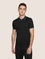 ARMANI EXCHANGE ZIP PLACKET LOGO YOKE POLO SHORT SLEEVES POLO Man f
