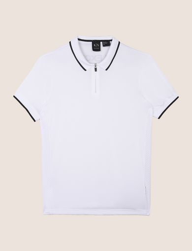 ZIP PLACKET LOGO YOKE POLO