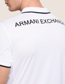ARMANI EXCHANGE ZIP PLACKET LOGO YOKE POLO SHORT SLEEVES POLO Man b