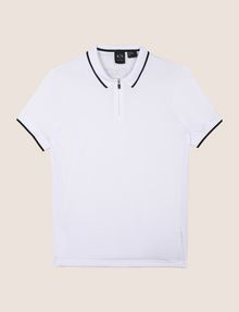 ARMANI EXCHANGE ZIP PLACKET LOGO YOKE POLO SHORT SLEEVES POLO Man r