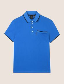 ARMANI EXCHANGE CONTRAST TIPPING POLO SHORT SLEEVES POLO Man r