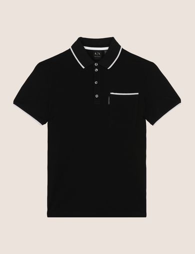 CONTRAST TIPPING POLO