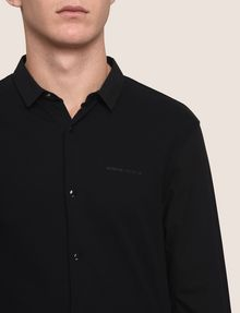 ARMANI EXCHANGE SLIM-FIT KNIT SNAP SHIRT Plain Shirt Man b