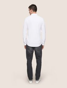 ARMANI EXCHANGE SLIM-FIT KNIT SNAP SHIRT Plain Shirt Man e