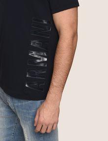 ARMANI EXCHANGE REFLECTIVE VERTICAL LOGO TEE Logo T-shirt Man b