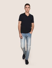 ARMANI EXCHANGE REFLECTIVE VERTICAL LOGO TEE Logo T-shirt Man d