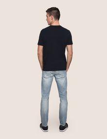 ARMANI EXCHANGE REFLECTIVE VERTICAL LOGO TEE Logo T-shirt Man e