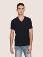 ARMANI EXCHANGE REFLECTIVE VERTICAL LOGO TEE Logo T-shirt Man f