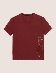 ARMANI EXCHANGE REFLECTIVE VERTICAL LOGO TEE Logo T-shirt Man r