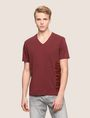 ARMANI EXCHANGE REFLECTIVE VERTICAL LOGO TEE Logo T-shirt Man f