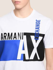 ARMANI EXCHANGE RETRO BEAT COLORBLOCK CREW Logo T-shirt Man b