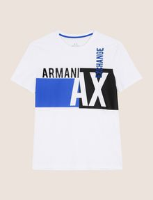 ARMANI EXCHANGE RETRO BEAT COLORBLOCK CREW Logo T-shirt Man r