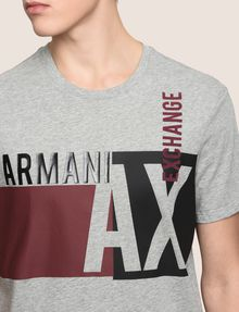 ARMANI EXCHANGE RETRO BEAT COLORBLOCK CREW Logo T-shirt [*** pickupInStoreShippingNotGuaranteed_info ***] b