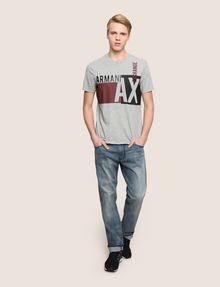 ARMANI EXCHANGE RETRO BEAT COLORBLOCK CREW Logo T-shirt [*** pickupInStoreShippingNotGuaranteed_info ***] d