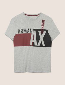 ARMANI EXCHANGE RETRO BEAT COLORBLOCK CREW Logo T-shirt [*** pickupInStoreShippingNotGuaranteed_info ***] r