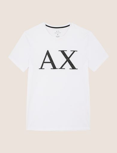 FAUX-LEATHER SERIF LOGO TEE