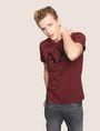 ARMANI EXCHANGE FAUX-LEATHER SERIF LOGO TEE Logo T-shirt Man a