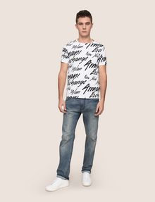 ARMANI EXCHANGE THROWBACK SCRIPT LOGO CREW Logo T-shirt Man d