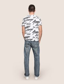 ARMANI EXCHANGE THROWBACK SCRIPT LOGO CREW Logo T-shirt Man e