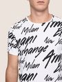 ARMANI EXCHANGE THROWBACK SCRIPT LOGO CREW Logo T-shirt Man b
