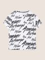 ARMANI EXCHANGE THROWBACK SCRIPT LOGO CREW Logo T-shirt Man r