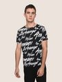 ARMANI EXCHANGE THROWBACK SCRIPT LOGO CREW Logo T-shirt Man f