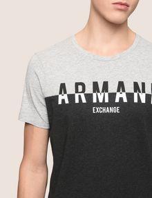 ARMANI EXCHANGE COLORBLOCK SLICED LOGO TEE Logo T-shirt Man b