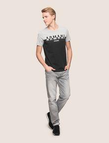 ARMANI EXCHANGE COLORBLOCK SLICED LOGO TEE Logo T-shirt Man d