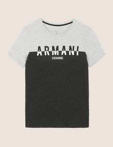 ARMANI EXCHANGE COLORBLOCK SLICED LOGO TEE Logo T-shirt Man r