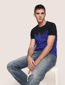 ARMANI EXCHANGE COLORBLOCK SLICED LOGO TEE Logo T-shirt Man a