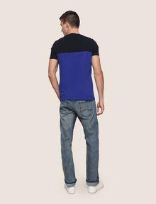 ARMANI EXCHANGE COLORBLOCK SLICED LOGO TEE Logo T-shirt Man e