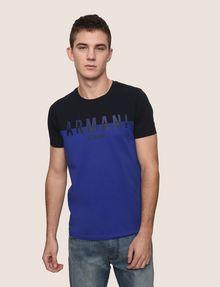 ARMANI EXCHANGE COLORBLOCK SLICED LOGO TEE Logo T-shirt Man f