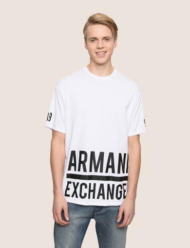 ロゴヘムプリント Tシャツ