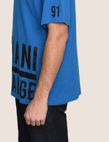 ARMANI EXCHANGE HEM PRINT LOGO CREWNECK Logo T-shirt Man b