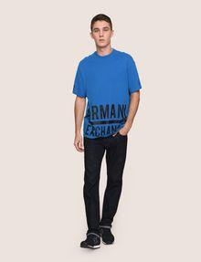 ARMANI EXCHANGE HEM PRINT LOGO CREWNECK Logo T-shirt Man d