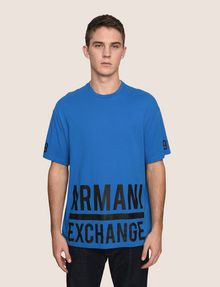 ARMANI EXCHANGE HEM PRINT LOGO CREWNECK Logo T-shirt Man f