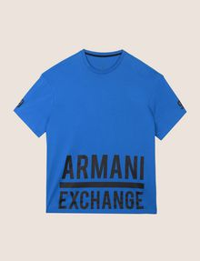 ARMANI EXCHANGE HEM PRINT LOGO CREWNECK Logo T-shirt Man r