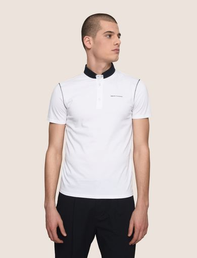 CONTRAST TAB COLLAR POLO