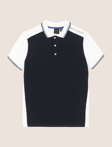 COLORBLOCK SLEEVE LOGO POLO
