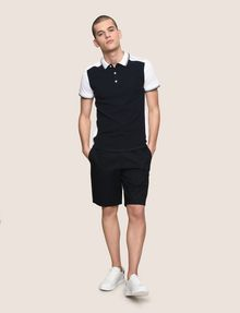 ARMANI EXCHANGE COLORBLOCK SLEEVE LOGO POLO SHORT SLEEVES POLO Man d