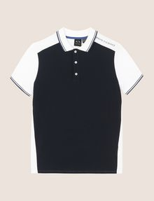 ARMANI EXCHANGE COLORBLOCK SLEEVE LOGO POLO SHORT SLEEVES POLO Man r