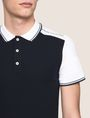 ARMANI EXCHANGE COLORBLOCK SLEEVE LOGO POLO SHORT SLEEVES POLO Man b