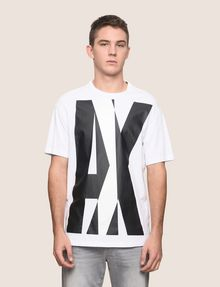 ARMANI EXCHANGE OVERLAPPING LOGO CREW Logo T-shirt Man f
