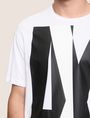 ARMANI EXCHANGE OVERLAPPING LOGO CREW Logo T-shirt Man b