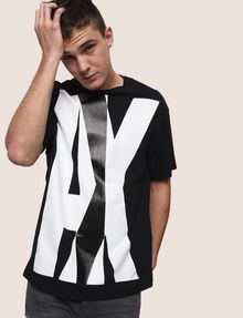 ARMANI EXCHANGE OVERLAPPING LOGO CREW Logo T-shirt Man a