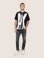 ARMANI EXCHANGE OVERLAPPING LOGO CREW Logo T-shirt Man d